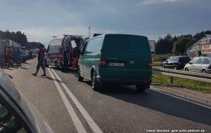Очевидец: в Бобровниках на польской границе водитель выехал на встречную и сбил ребенка из Беларуси