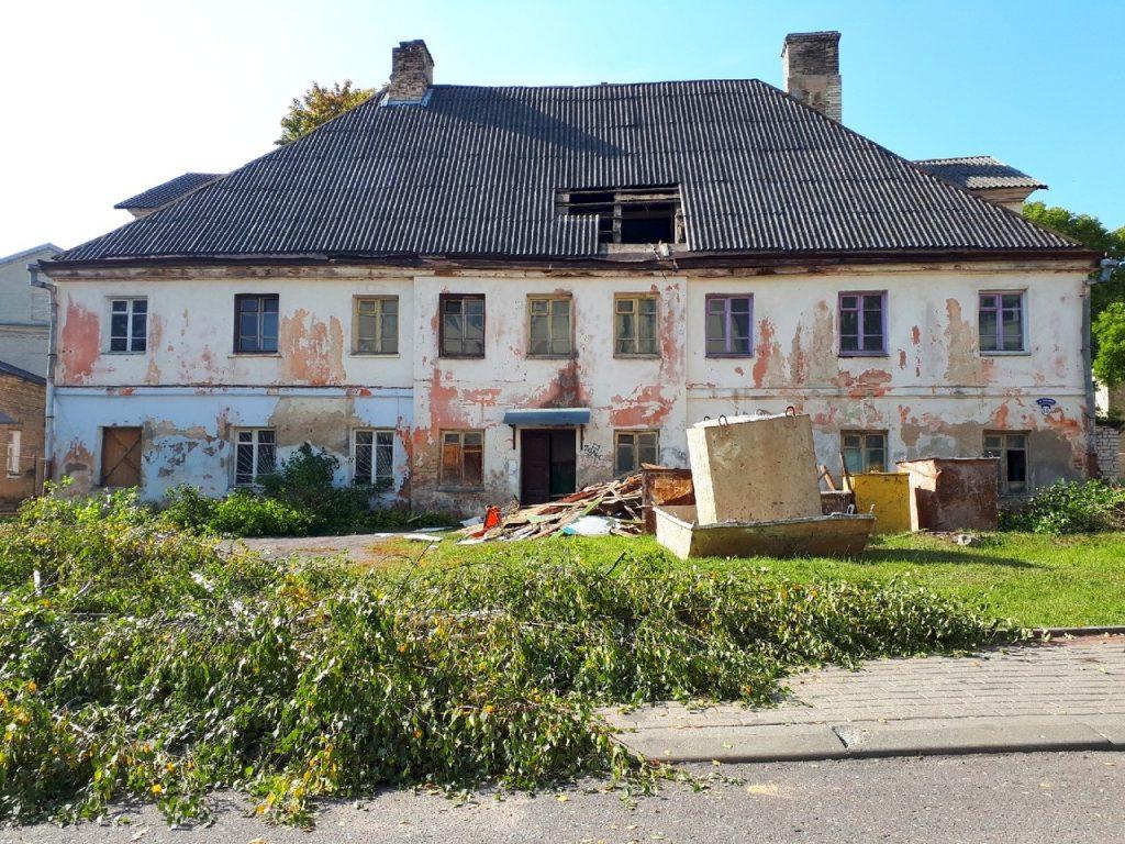 На площади Тызенгауза восстанавливают здание XVIII века под Музей леса