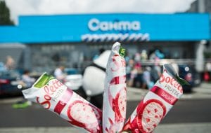 В Гродно открывают магазин «Санта» на Вишневце. Раздадут 1000 пачек мороженого