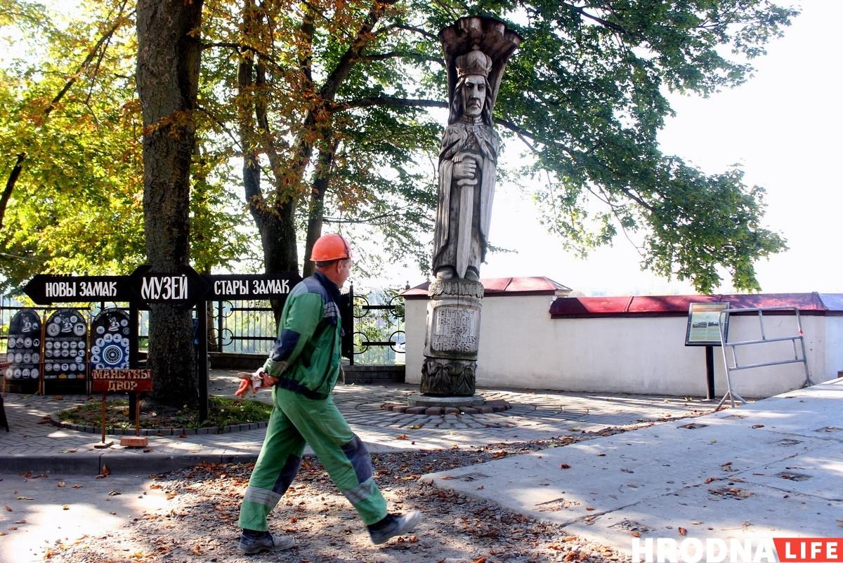 Статуя Витовта в Гродно перед тем как её убрали