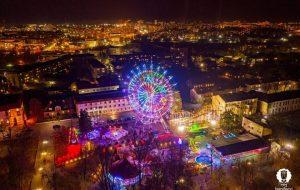 Гродненский фотограф сделал атмосферные снимки нового колеса обозрения