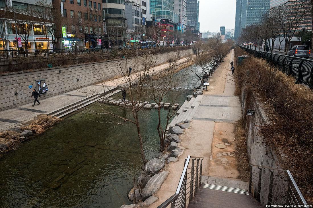 Река Чхонгечхон, Сеул 2019 г.