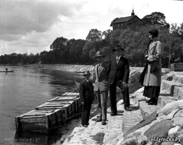 Набережная Немана, вид на Коложу, 1930-е / Набярэжная Нёмана, від на Каложу, 1930-я
