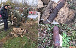В Гродно при демонтаже старого надгробия рабочий обнаружил снаряды времен Второй мировой