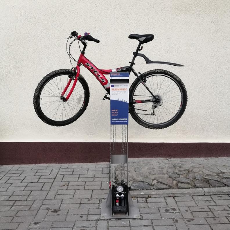 Велогараж, веломаячки и велопарковка появились в Гродно при поддержке Евросоюза