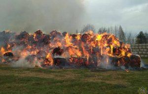 Дети игрались с зажигалкой и сожгли 100 тонн соломы