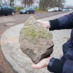 Еврейское надгробие как элемент альпийской горки? Неожиданная находка в Гродно