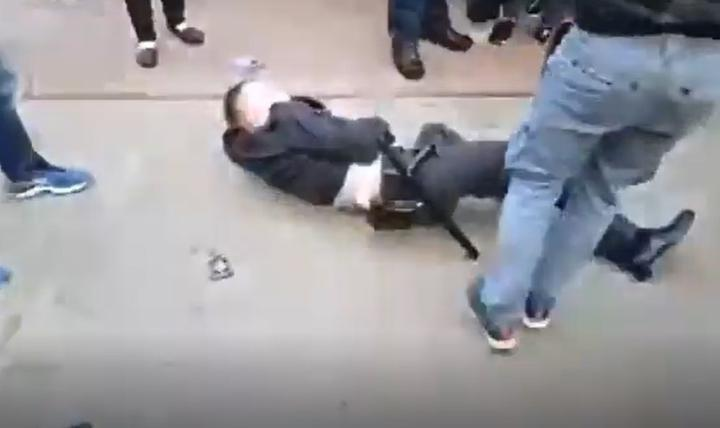 Милиционер, который упал на пикете Тихановской в Гродно, ранее уже участвовал в «политических» делах