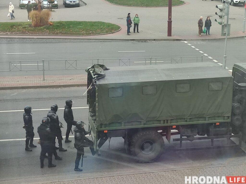 Силовики в Гродно, 31 октября