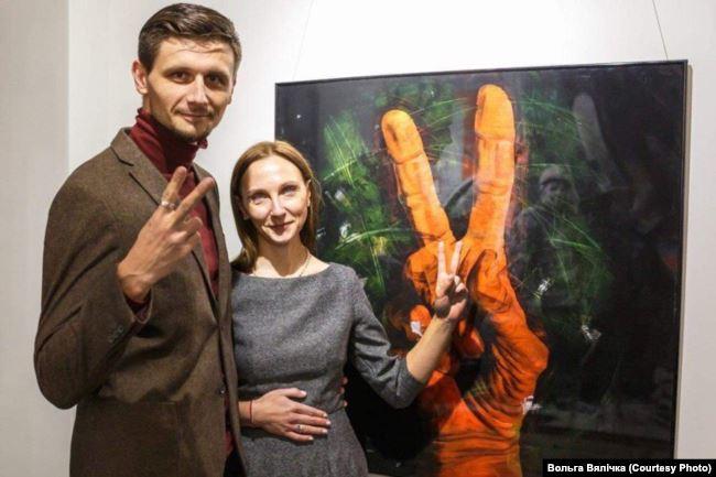 На выставе Сяргея Грыневіча